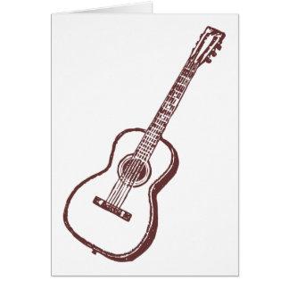 Brown Acoustic Classical Guitar Card