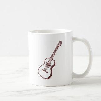 Brown Acoustic Classical Guitar Coffee Mugs