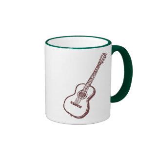 Brown Acoustic Classical Guitar Ringer Mug