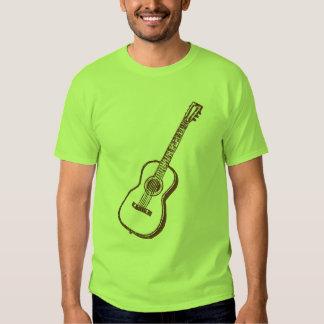 Brown Acoustic Classical Guitar T Shirt