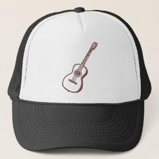 Brown Acoustic Classical Guitar Trucker Hat