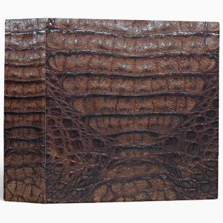 Brown Alligator Print Binder