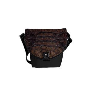 Brown Alligator Skin #3a Courier Bag