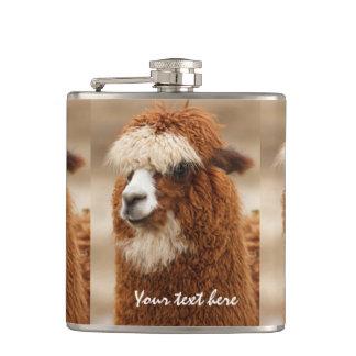 Brown Alpaca custom flask