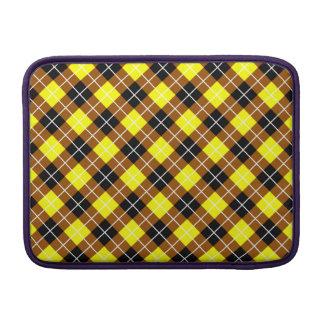 Brown amarillo Argyle blanco y negro Fundas Macbook Air
