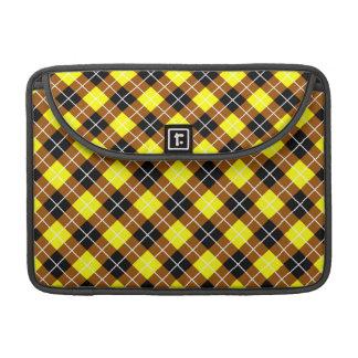 Brown amarillo Argyle blanco y negro Fundas Macbook Pro