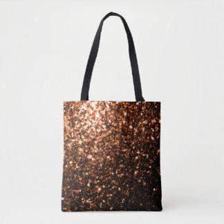 Brown anaranjado de bronce hermoso brilla las bolsa de tela