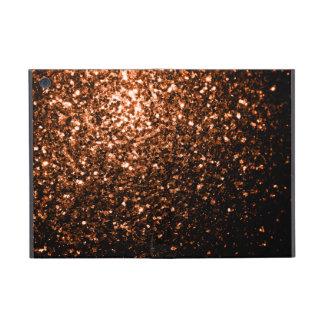 Brown anaranjado de bronce hermoso brilla las chis iPad mini cárcasas