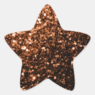 Brown anaranjado de bronce hermoso brilla las chis colcomanias forma de estrellaes