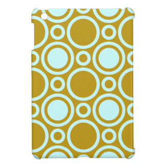 Brown and Aqua Circle Pattern iPad Mini Case