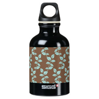 Brown and aqua leaves SIGG traveler 0.3L water bottle