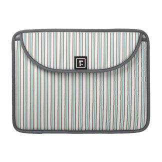 Brown and Aqua Seafoam Stripes Sleeve For MacBooks