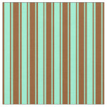 [ Thumbnail: Brown and Aquamarine Colored Pattern Fabric ]