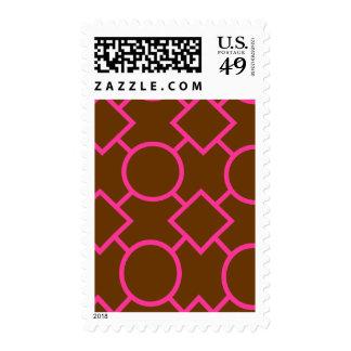 Brown and Azalea Geometric Pattern Stamp