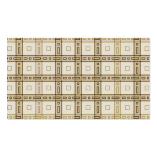 Brown and Beige Check Pattern. Business Card