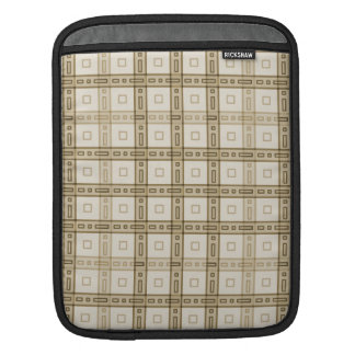 Brown and Beige Check Pattern. iPad Sleeve