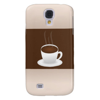 Brown And Beige Coffee Design Galaxy S4 Cover