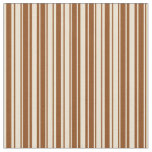 [ Thumbnail: Brown and Beige Colored Pattern Fabric ]