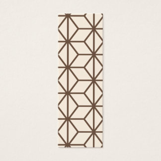Brown and beige geometric art-deco pattern mini business card