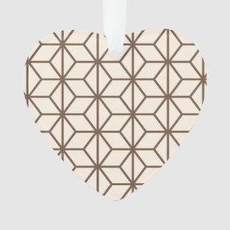 Brown and beige geometric art-deco pattern ornament