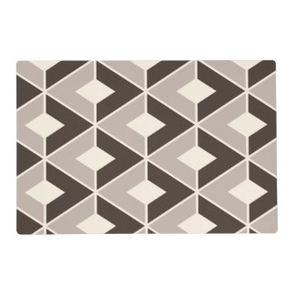Brown and beige geometric diamonds placemat