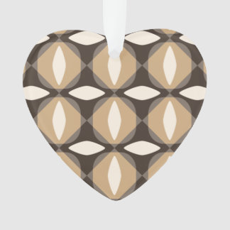 Brown and beige geometric flowers ornament