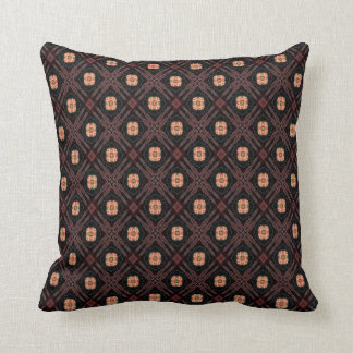 Brown And Beige Joy Throw Pillow