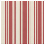 [ Thumbnail: Brown and Beige Lines Pattern Fabric ]