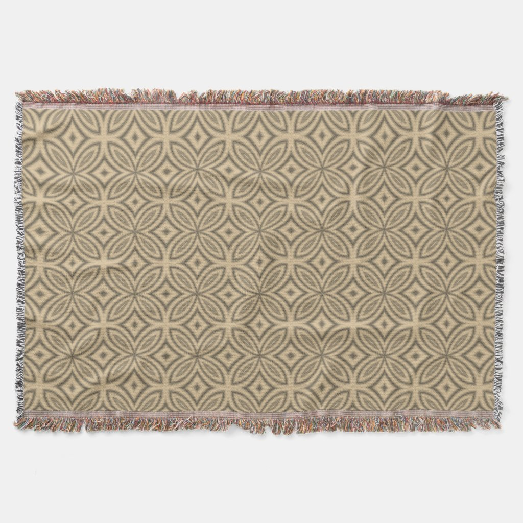 Brown and beige retro abstract geometric pattern