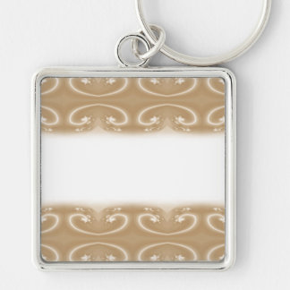 Brown and Beige Swirl Pattern. Key Chains