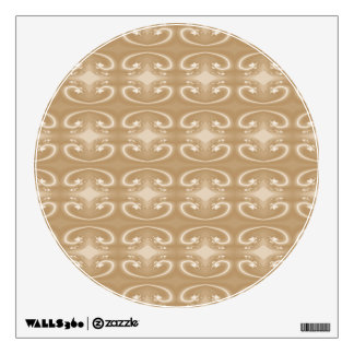 Brown and Beige Swirl Pattern. Wall Decal