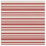 [ Thumbnail: Brown and Bisque Pattern of Stripes Fabric ]