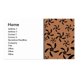 Brown and black, cog twist flower design. business card templates