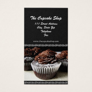 Brown and Black Cupcake Business Cards