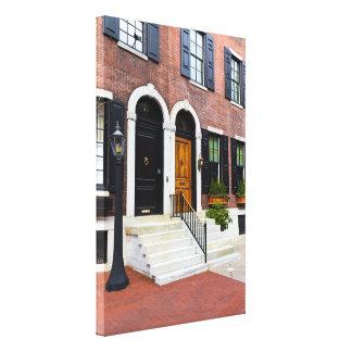 Brown and Black Door on Delancy Street Canvas Print
