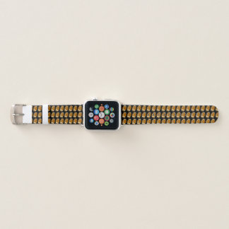 Brown and Black Football Sports Pattern Apple Watch Band