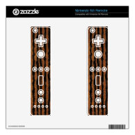 Brown and Black Furry Stripe Decal For The Wii Remote