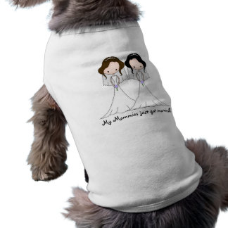 Brown and Black Haired Brides Lesbian Wedding Shirt