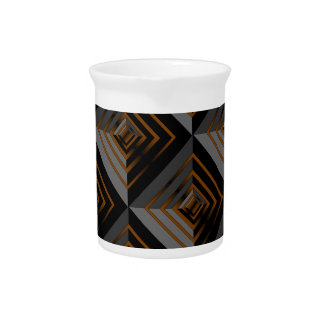 Brown and Black Layers Beverage Pitchers