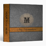 Brown and Black Leather Binder