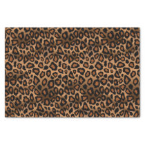 Brown and Black Leopard Animal Print Tissue Paper
