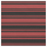 [ Thumbnail: Brown and Black Pattern Fabric ]