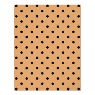 Brown and Black Polka Dot Pattern. Flyer