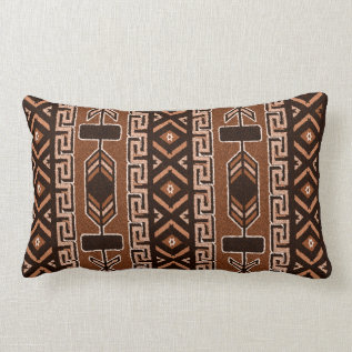 Brown And Black Southwest Tribal Aztec Pattern Lumbar Pillow at Zazzle