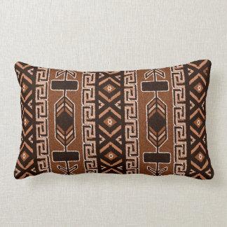 Brown And Black Southwest Tribal Aztec Pattern Lumbar Pillow