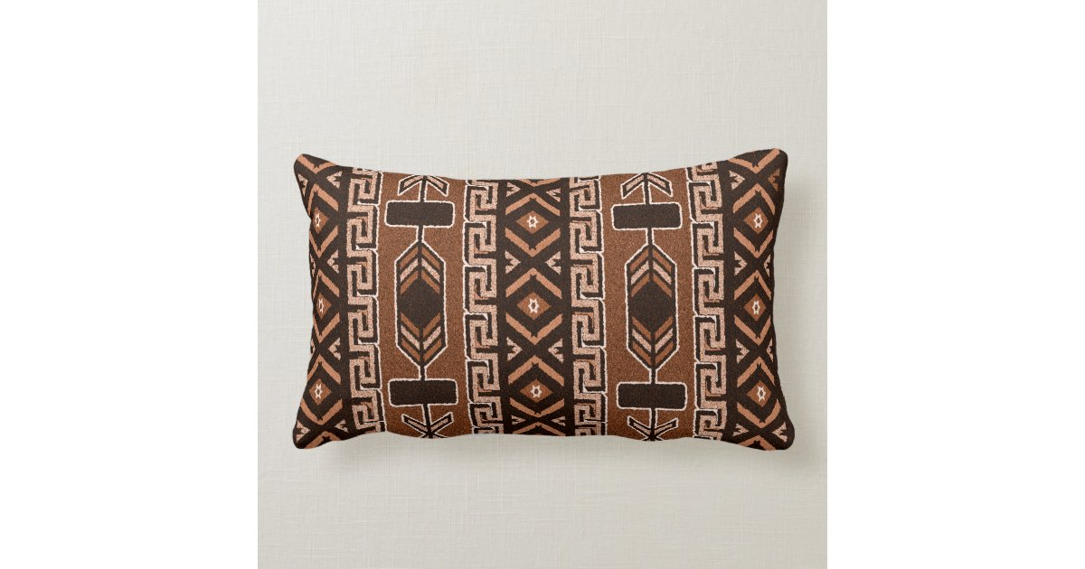 Black Tribal Throw Pillow : Brown And Black Southwest Tribal Aztec Pattern Throw ...