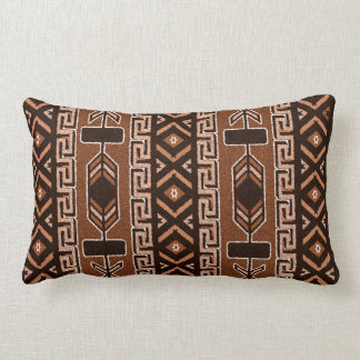 Brown And Black Southwest Tribal Aztec Pattern Throw Pillow