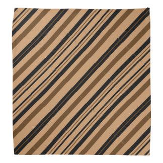 Brown and Black Stripes Bandana