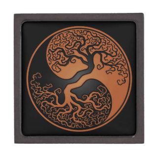 Brown and Black Tree of Life Yin Yang Premium Gift Box