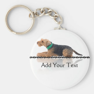 Brown and Black Welsh Terrier Keychain